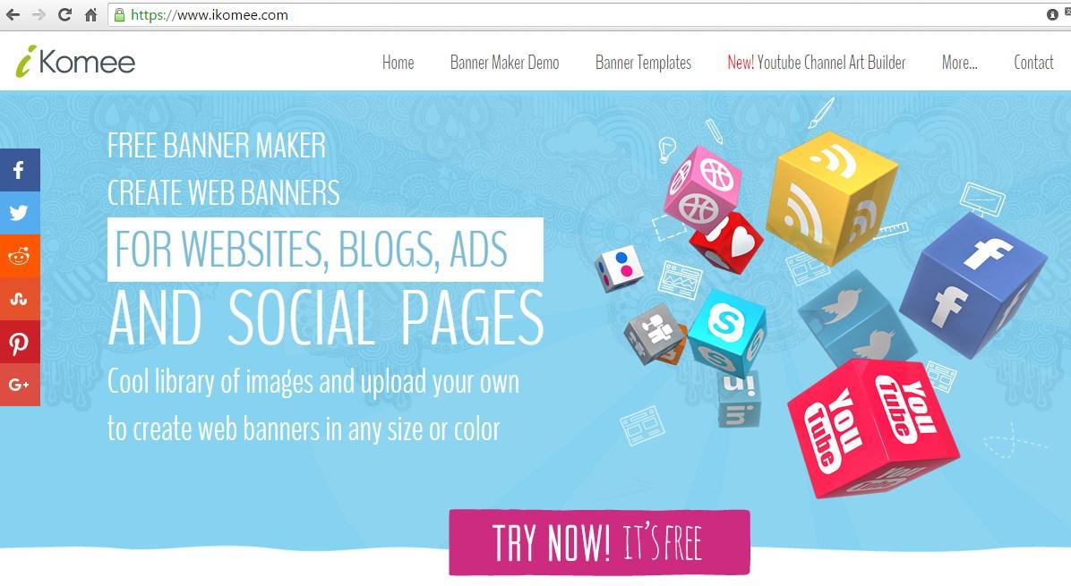 ikomee.com - онлайн сервис создания шапки для youtube